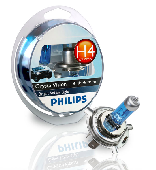 Ламп.PHILIPS H4 12v60/55w, CRISTAL VISION 4300K 2+2штW5W (P43t)
